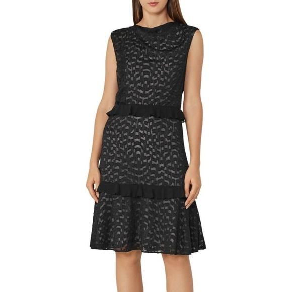Reiss Dresses & Skirts - Reiss Abigail Embroidered Burnout Dress Sz 10